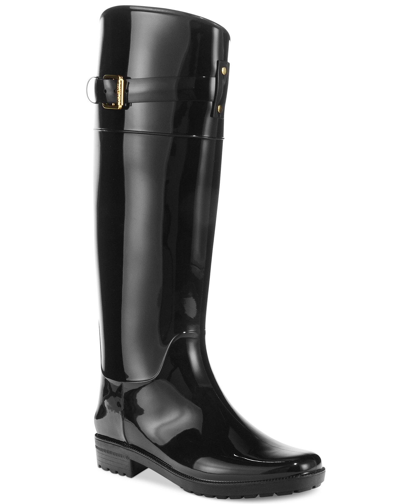 Cool Lauren Ralph Lauren Maritza Womens Leather Riding Boots Wide Calf